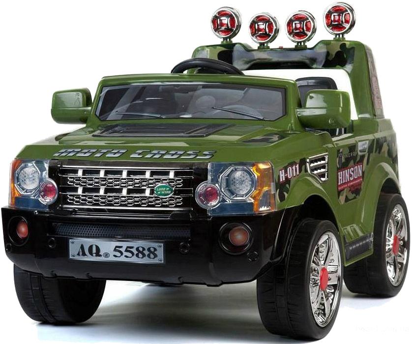Kidscars Электромобиль Land Rover цвет зеленый kidscars электромобиль квадроцикл цвет черный