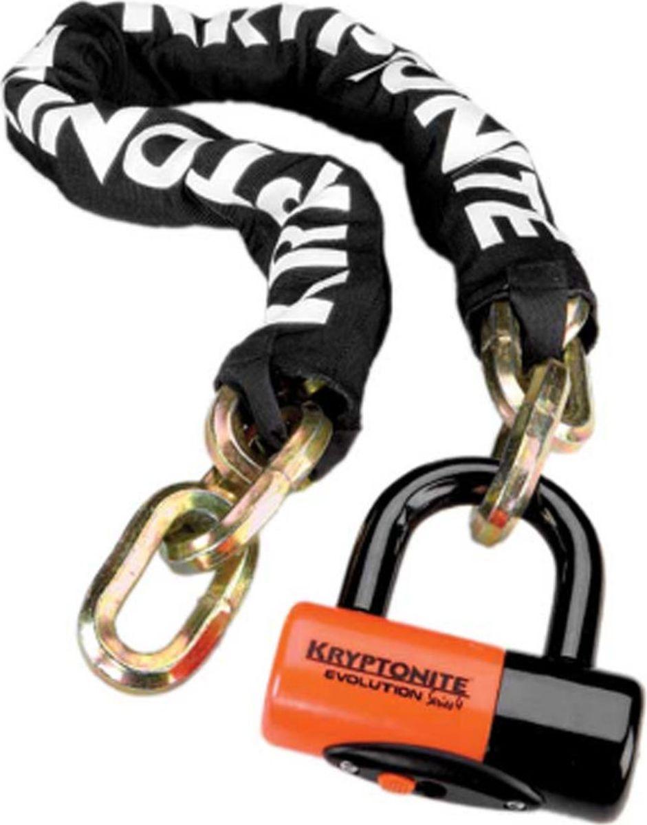 Замок велосипедный Kryptonite Chains New York Chain 1210, цвет: черный, желтый