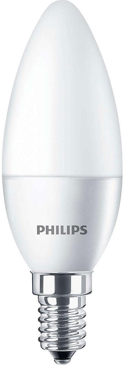 Лампа светодиодная Philips CorePro LEDcandle, матовая колба, цоколь E14, 5,5 W, 4000K [супермаркет] джингдонг филипс philips светодиодные лампы интерьера исследование лампа прикроватная шампанского прохладный fun 4 6w 4000k 66027