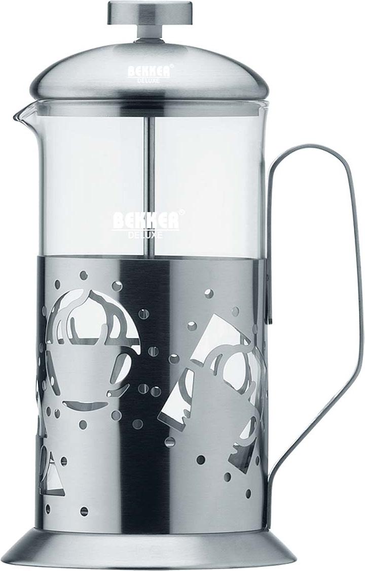 Чайник заварочный Bekker Deluxe, цвет: серебристый, 0,6 л. BK-361 цена