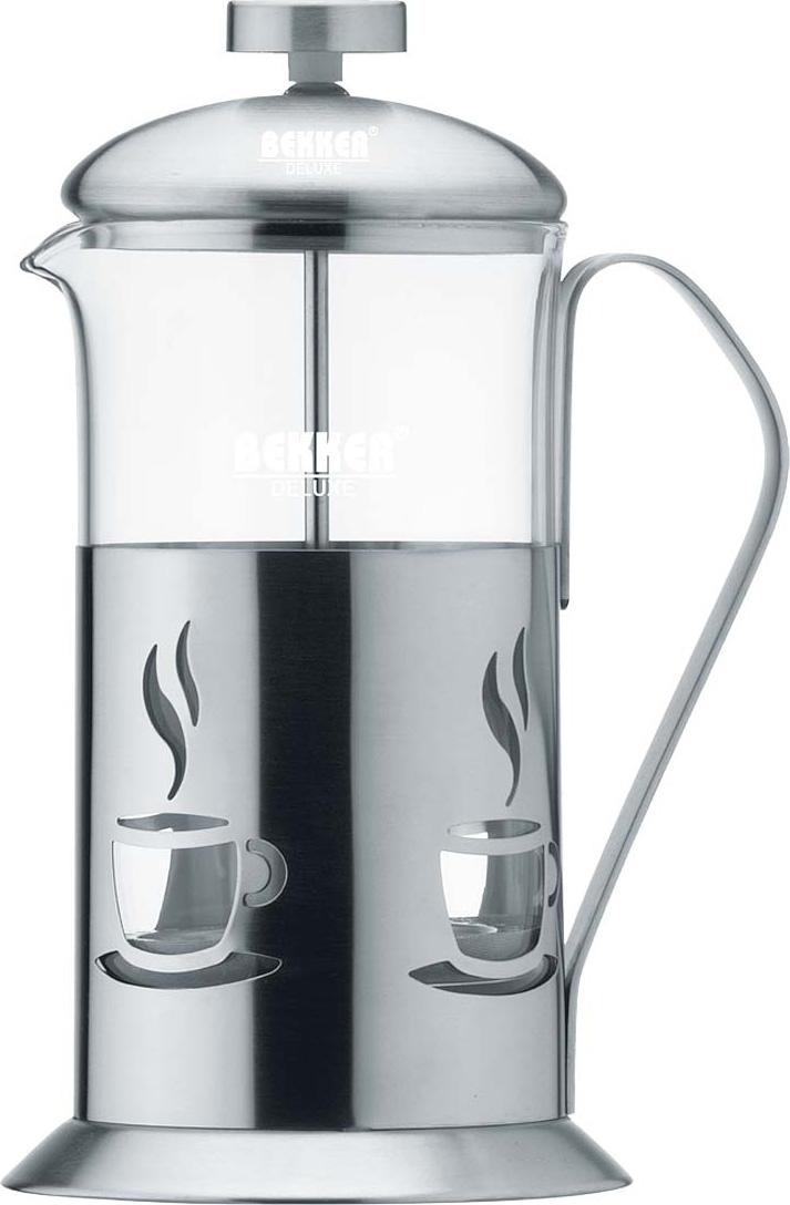 Чайник заварочный Bekker Deluxe, цвет: серебристый, 0,6 л. BK-362 цена