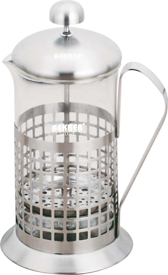 Чайник заварочный Bekker Deluxe, цвет: серебристый, 0,6 л. BK-364 цена