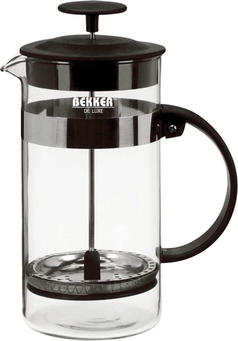 Чайник заварочный Bekker Deluxe, цвет: черный, 0,8 л. BK-390 цена