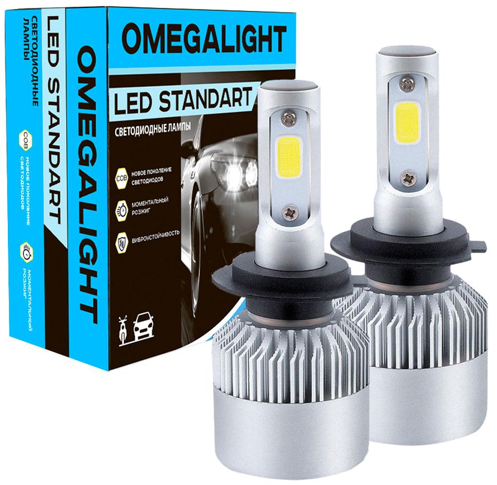 """Лампа автомобильная светодиодная Omegalight """"Standart"""", цоколь H1, 2400 Лм, 2 шт"""