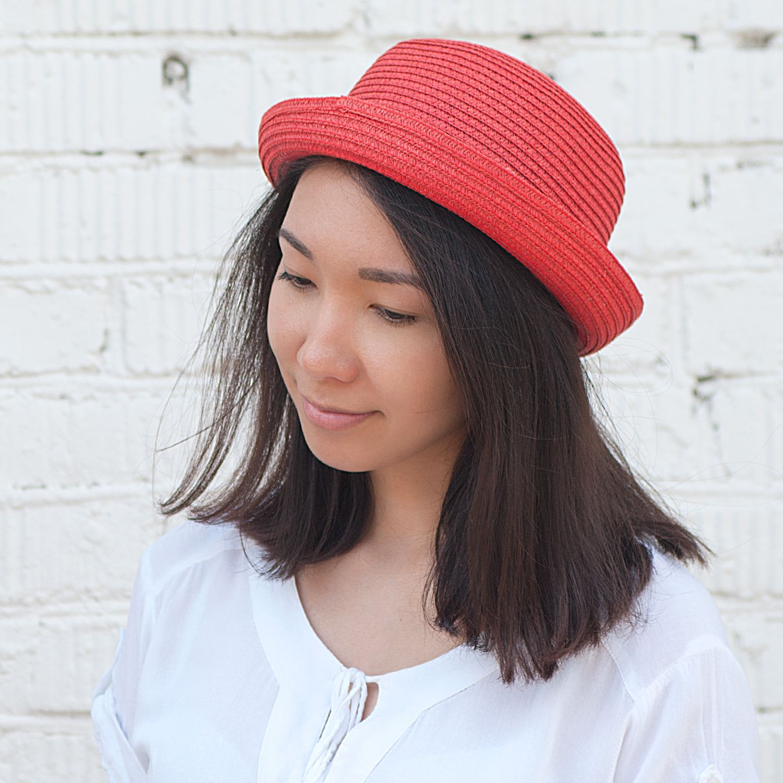 Соломенная шляпа Kawaii Factory женская шляпа от солнца other top hat 2015 wh0273
