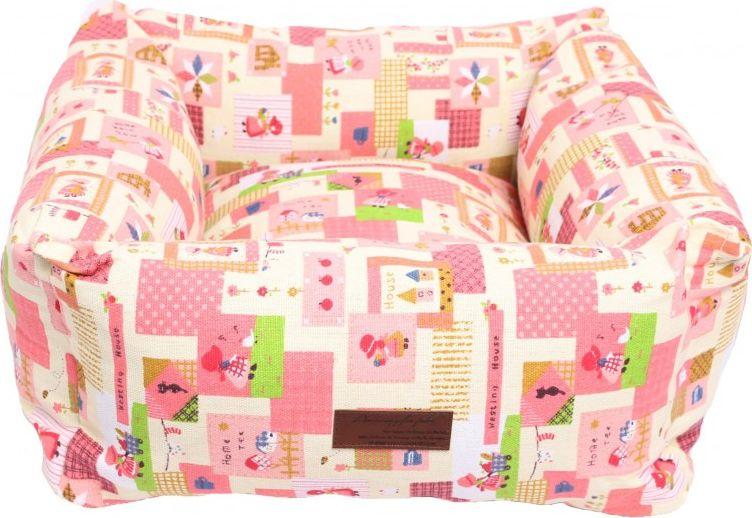 Лежанка для животных Lion Manufactory Мишель, цвет: розовый, 50 х 50 см лежанка для животных lion manufactory мишель цвет коричневый 50 х 50 см