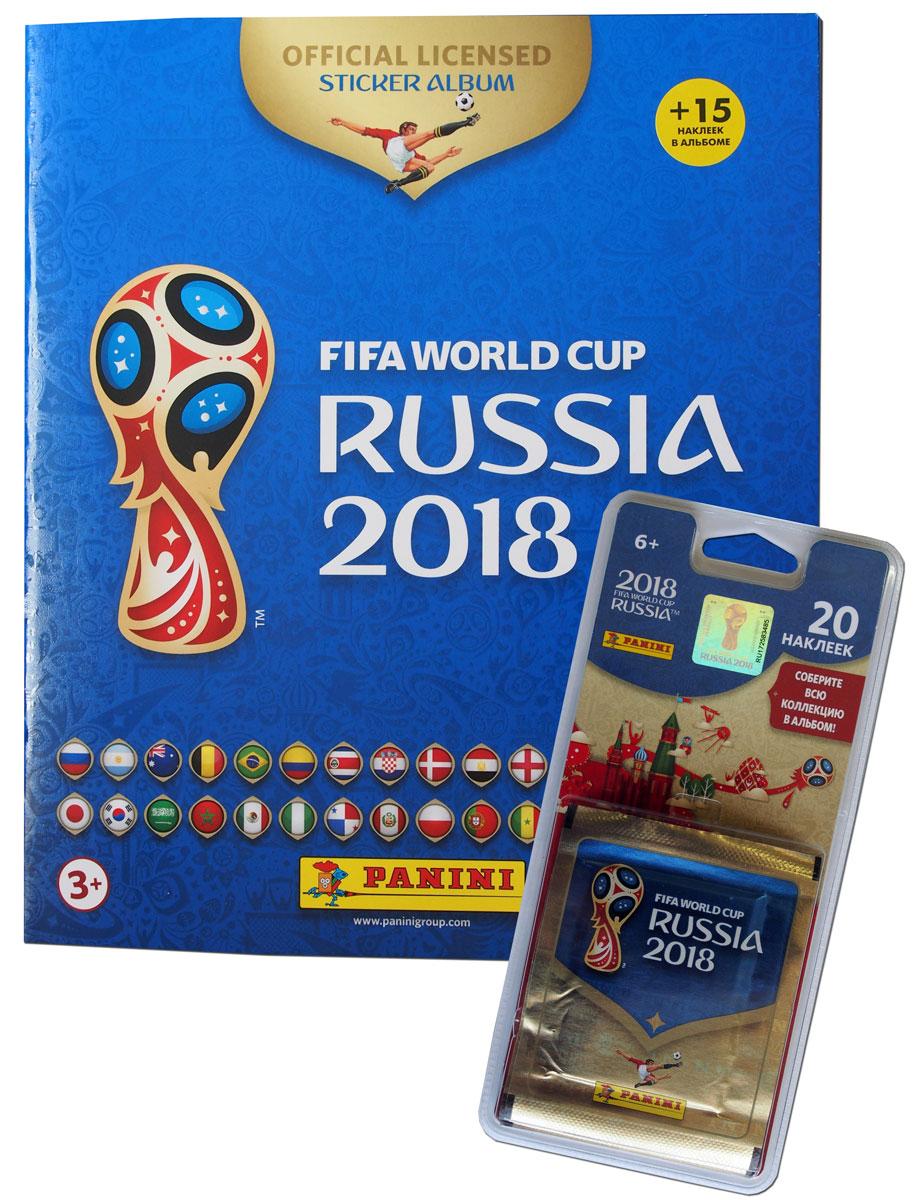 Фото - Альбом для наклеек Panini Чемпионат мира по футболу FIFA 2018, 15 наклеек в комплекте + 4 пакетика наклеек рэднедж к чемпионат мира по футболу fifa 2018 в россии™ официальное издание