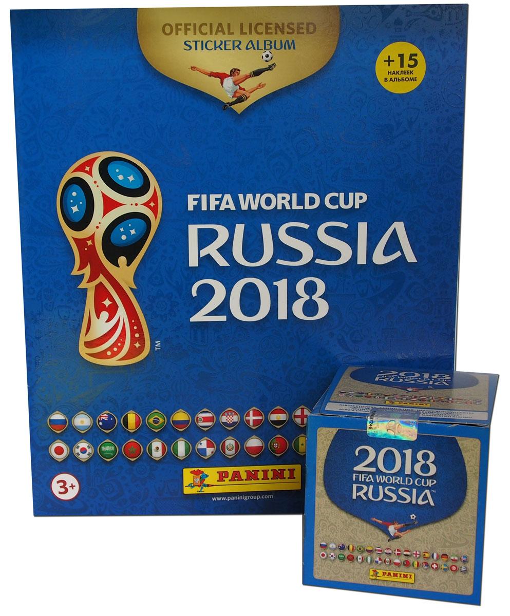 Фото - Альбом для наклеек Panini Чемпионат мира по футболу FIFA 2018, 15 наклеек в комплекте + 50 пакетиков наклеек рэднедж к чемпионат мира по футболу fifa 2018 в россии™ официальное издание