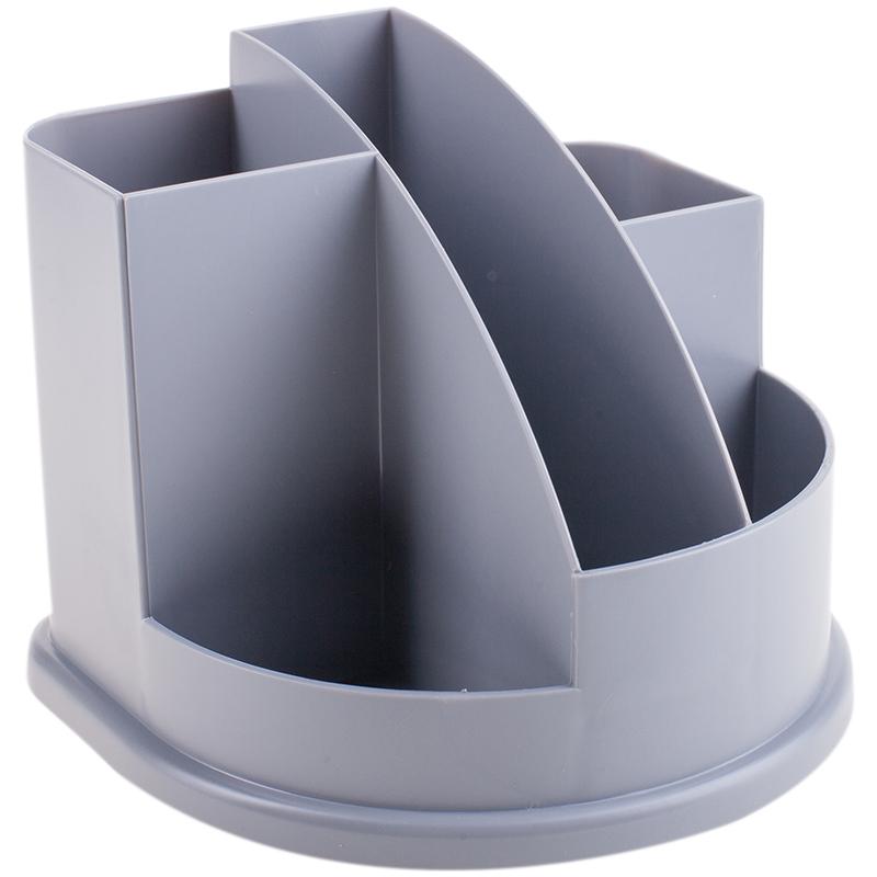 Attache Подставка для канцелярских принадлежностей Авангард 5 отделений цвет серый карандаш attache
