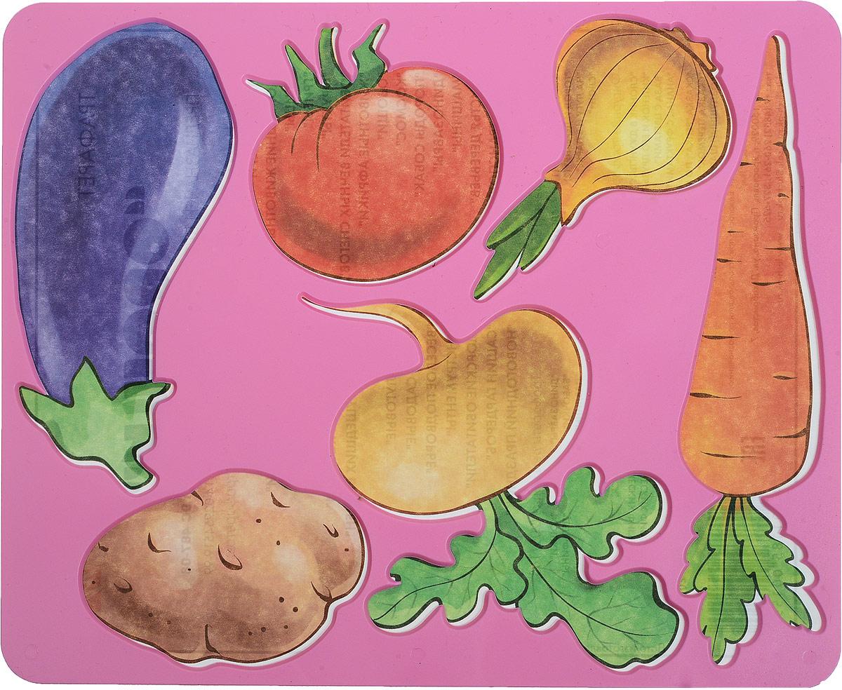 Луч Трафарет прорезной Овощи цвет розовый