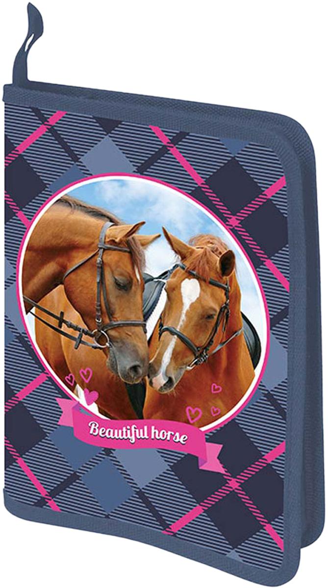 Limpopo Папка для труда Лошадки А4 с одним отделением цвет синий limpopo папка для тетрадей danger