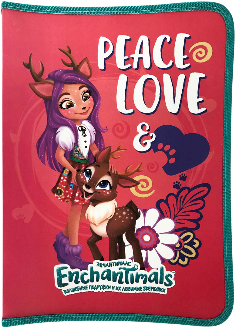 Mattel Папка для труда Enchantimals А4 на молнии цвет розовый mattel набор настольный mattel enchantimals круглый без наполнения opp пакет с европодвесом