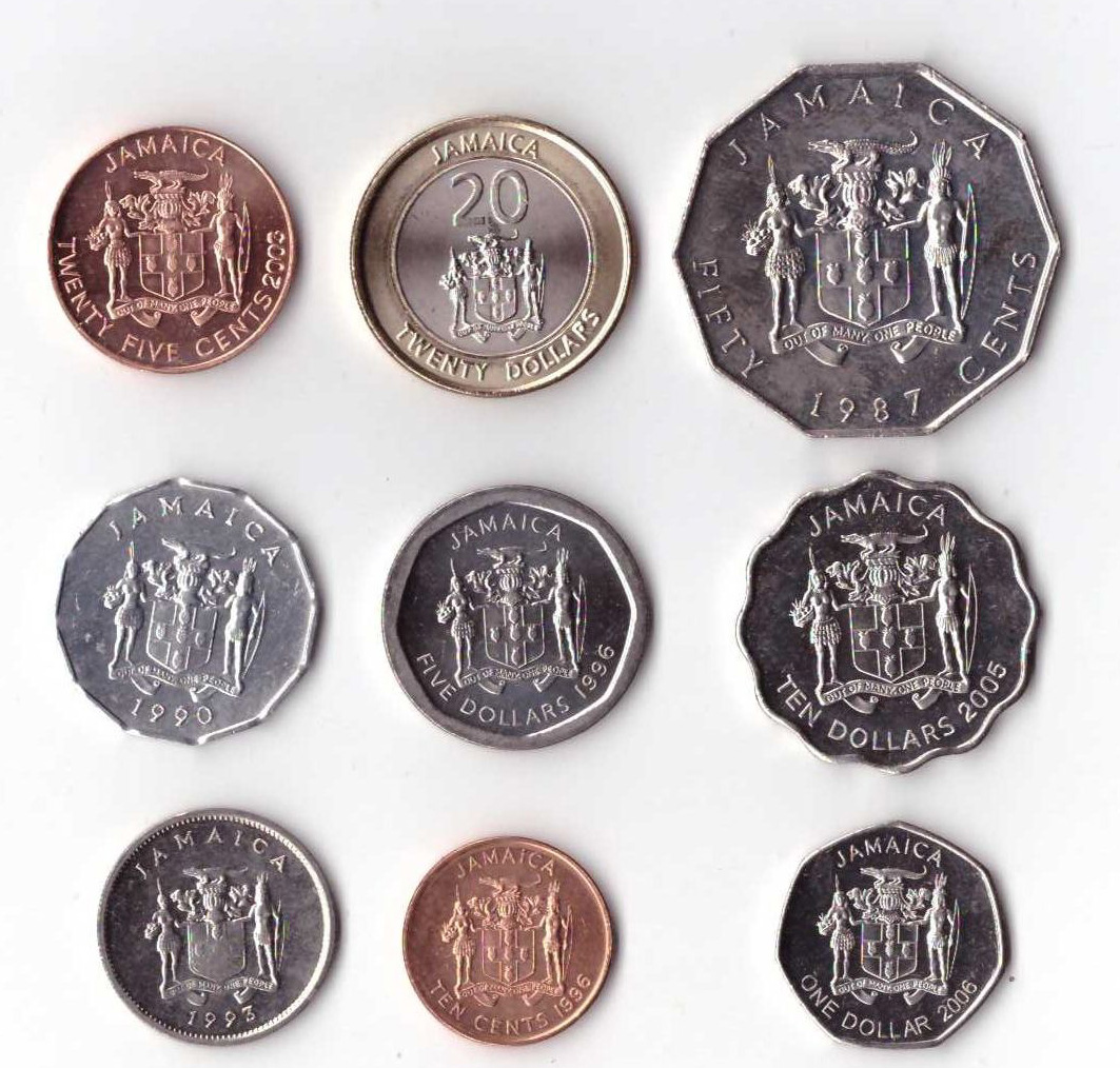 Комплект из 9 монет. Ямайка, 1987 - 2006 гг. у цзиншэн маленькая кисть и перо центов