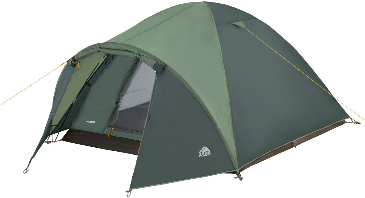 Палатка двухместная TREK PLANET Palermo 2, цвет: зеленый