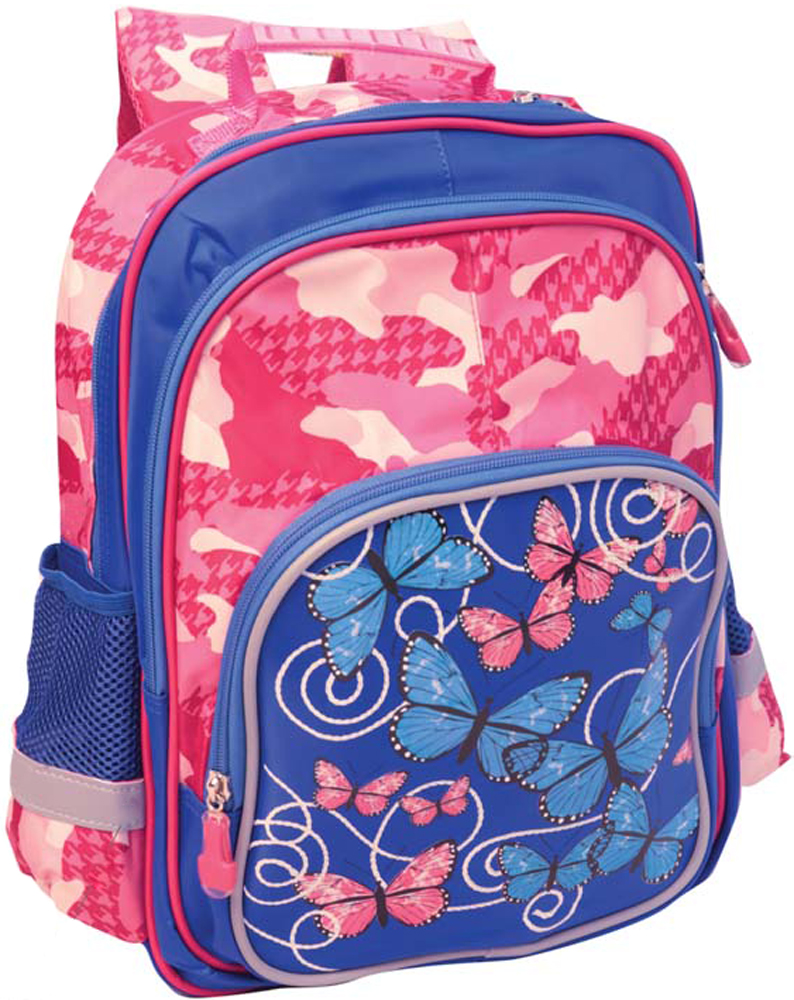 Limpopo Рюкзак детский Prime Бабочки-цветочки цвет розовый, синий