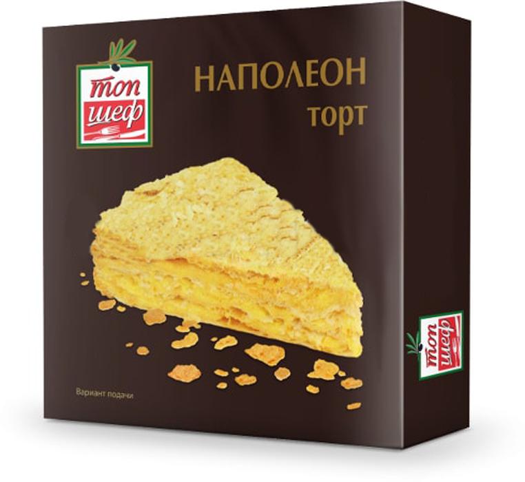 Топ Шеф Торт Наполеон, 400 г4627135258531Замороженный миндальный торт