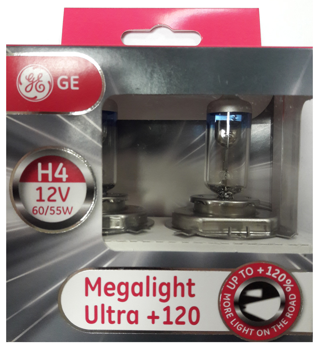 Лампа автомобильная General Electric Megalight Ultra 120, цоколь P43t, 12V, 60/55W, 2 шт electric scooter motorcycle electric friction modification poseidon with voltmeter aluminum alloy faucet base