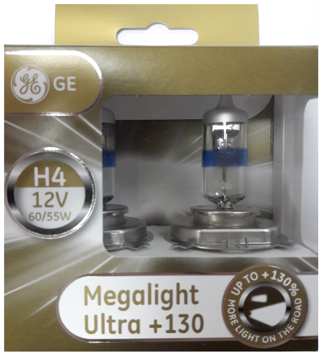 Лампа автомобильная General Electric Megalight Ultra 130, цоколь P43t, 12V, 60/55W, 2 шт 12v electric massage pad for car