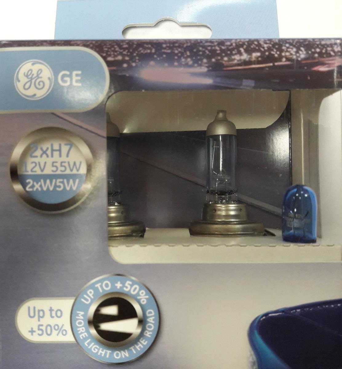 Лампа автомобильная General Electric Sport, цоколь PX26d, 12V, 55W, 2 шт автомобильная лампа h7 55w blue vision plus 2 шт philips