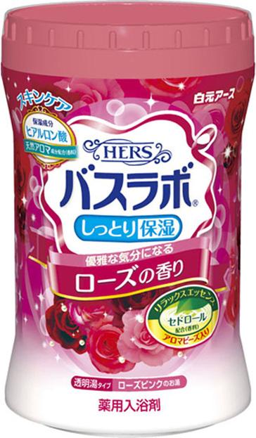 Hakugen Eartn HERS Bath Labo Увлажняющая соль для ванны, с ароматом розы, 680 г