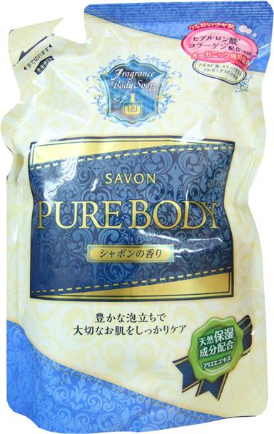 Mitsuei Pure Body Увлажняющий гель для душа с гиалуроновой кислотой, коллагеном и экстрактом алоэ, с ароматом свежести, 400 мл, мягкая упаковка