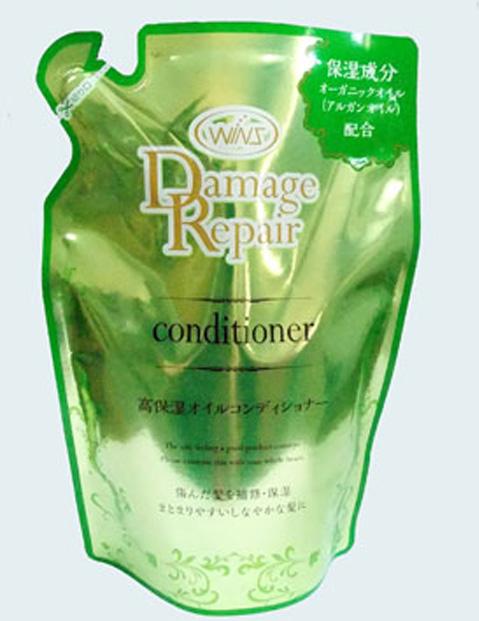 Wins Увлажняющий бальзам-ополаскиватель по уходу за поврежденными волосами, 370 мл, мягкая упаковка
