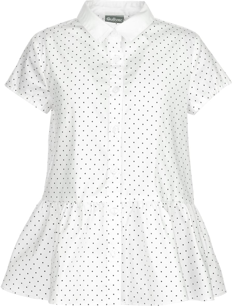 Блузка Gulliver карамелли карамелли блузка для школы с крылышками белая