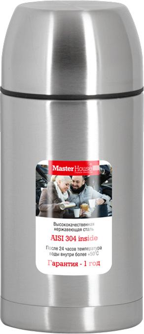 Термос Master House Tirol, цвет: серебристый, 1 л [] сша супермаркет jingdong кухня maxcook 304 из нержавеющей стали вакуумные коробки к горшку 1 8l блюз серии mctg ld1 8 анти разлива изоляции лонг