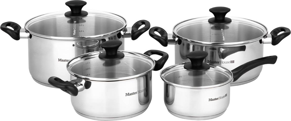 Фото - Набор посуды Master House Nero, 8 предметов trixie стойка с мисками trixie для собак 2х1 8 л