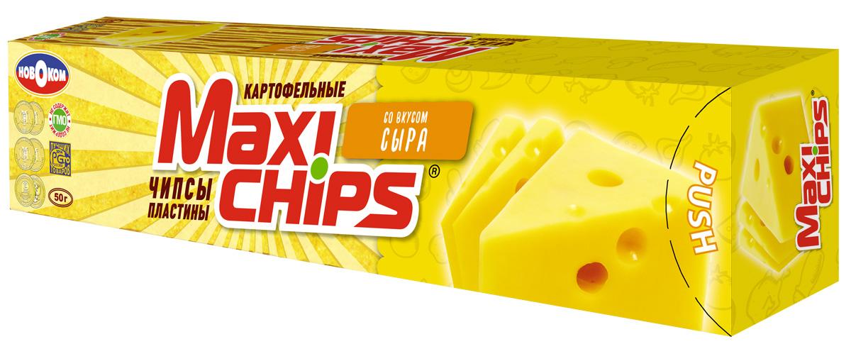 Чипсы картофельные Maxi chips, сыр, 50 г чипсы картофельные русская картошка сыр 50 г