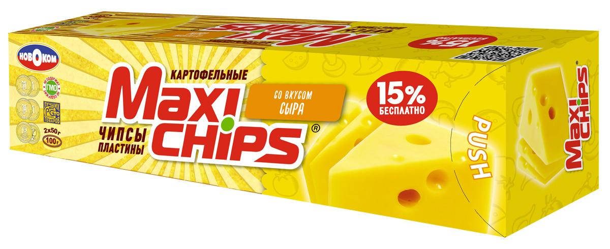 Maxi-chips Чипсы картофельные со вкусом сыра, 100 г maxi chips чипсы картофельные со вкусом томата с зеленью 100 г