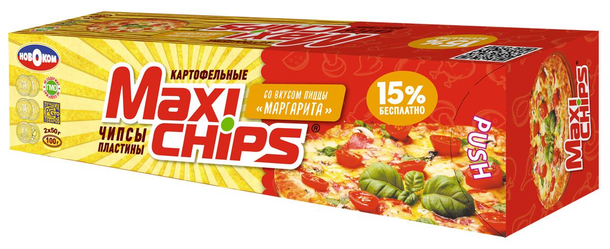 Maxi-chips Чипсы картофельные со вкусом пиццы Маргарита, 100 г maxi chips чипсы картофельные со вкусом томата с зеленью 100 г