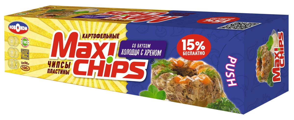 Maxi-chips Чипсы картофельные со вкусом холодца с хреном, 100 г maxi chips чипсы картофельные со вкусом томата с зеленью 100 г
