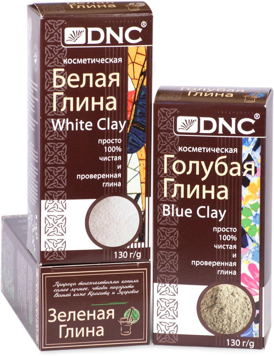 цена на DNC Набор косметической глины: Белая 130 г, Зеленая 100 г, Голубая 130 г