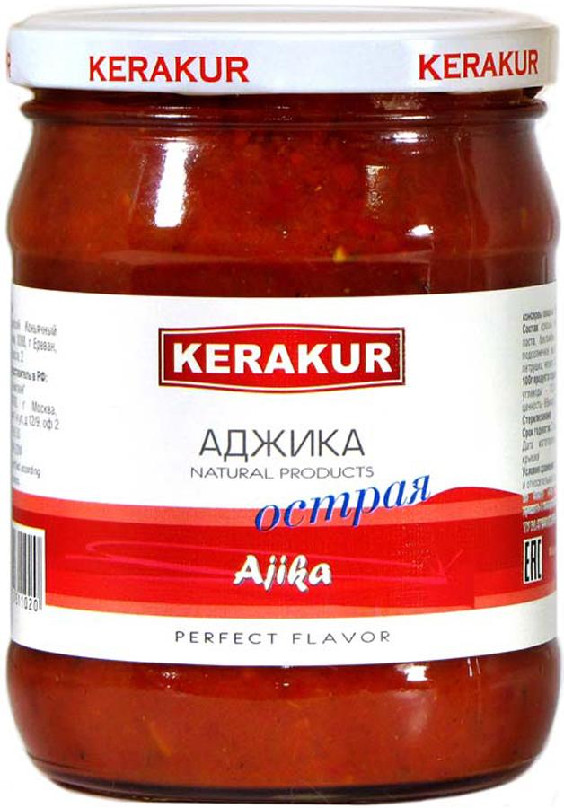 Kerakur Аджика острая, 480 г аджика амца абхазская копченая 200 г