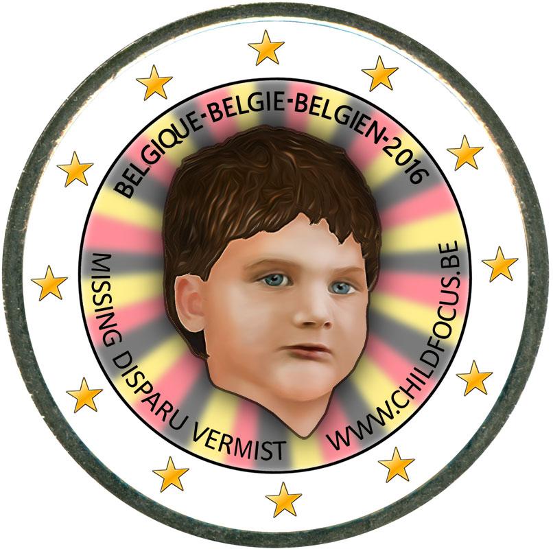Монета номиналом 2 евро 2016 Бельгия Международный день пропавших детей (цветная) монета номиналом 2 евро 2017 бельгия 200 лет университету гента цветная