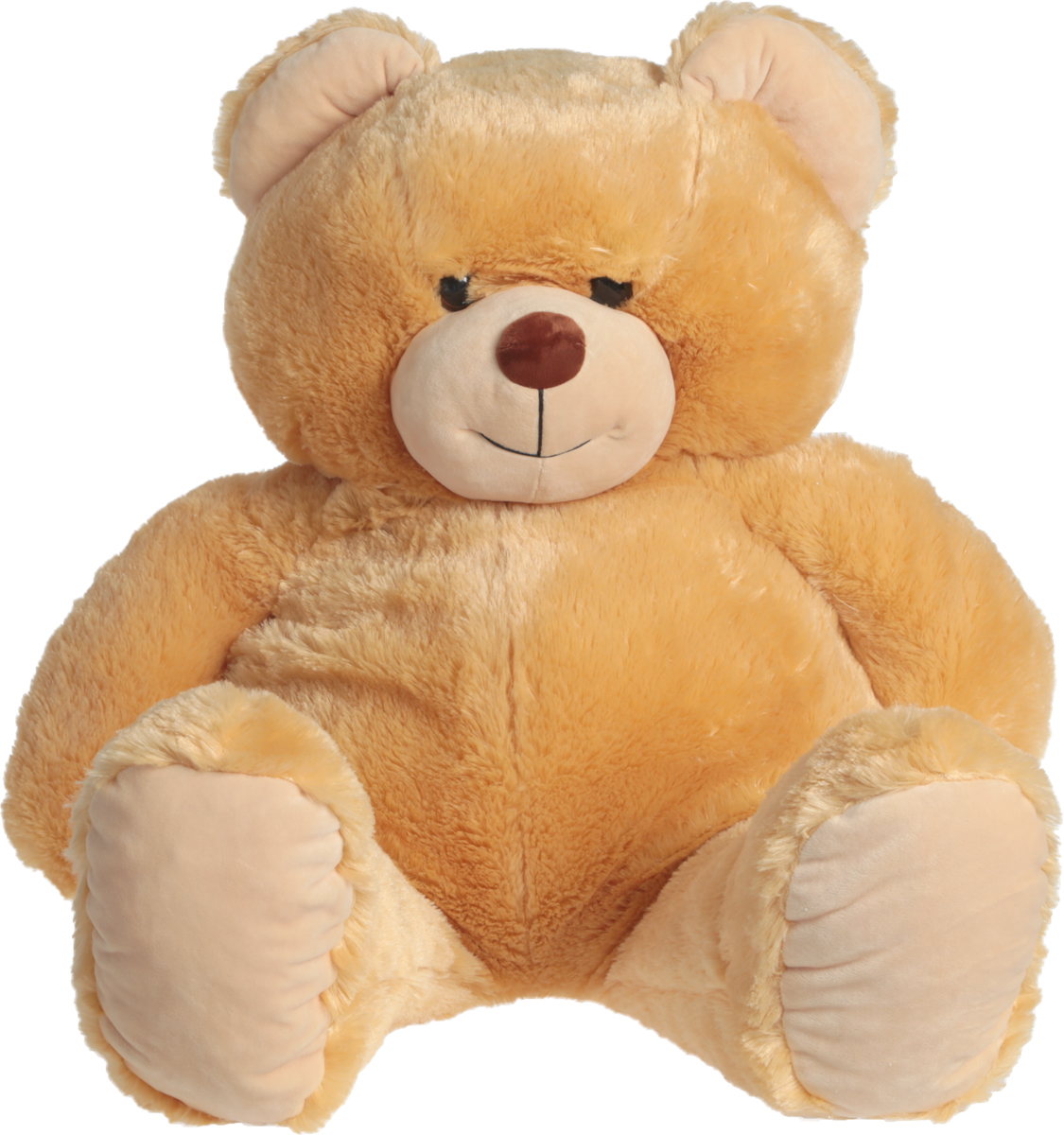 СмолТойс Мягкая игрушка Медведь цвет светло-бежевый 103 см