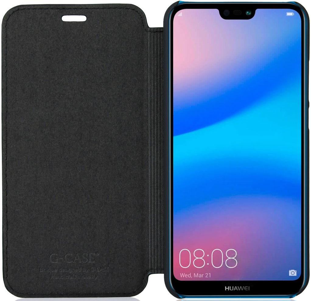 Чехол G-Case Slim Premium для Huawei P20 Lite черный аксессуар чехол для huawei p20 lite neypo brilliant silicone light blue crystals nbrl4496