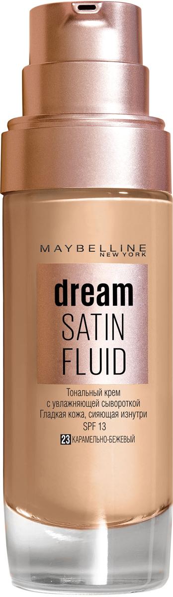 """Maybelline New York Тональный крем-флюид для лица """"Dream Satin Fluid"""", оттенок 23, карамельно-бежевый, 30 м"""