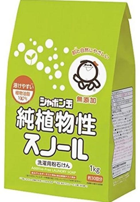 """Shabondama """"Сноул"""" Натуральное порошковое мыло для стирки белья с кондиционером (бумажный пакет), 1 кг"""