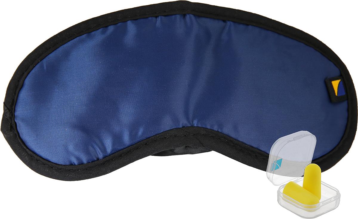 Комплект Travel Blue Comfort Set: маска для сна, беруши, цвет: синий