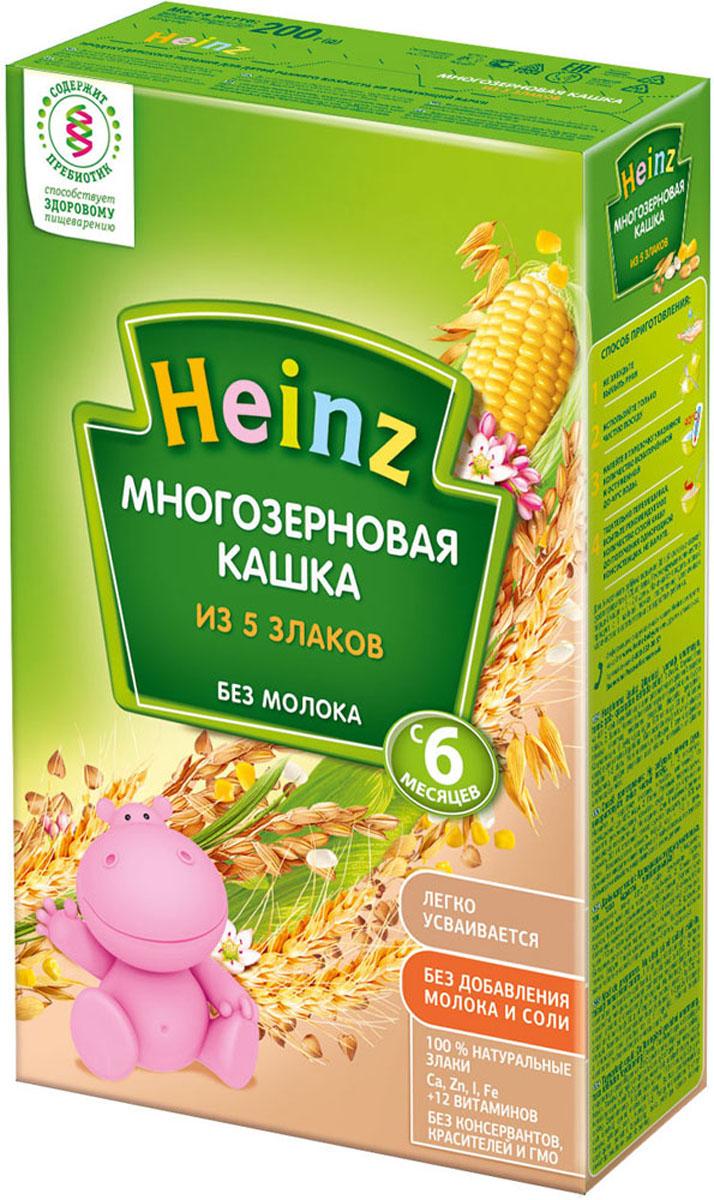 Heinz каша многозерновая из пяти злаков, с 6 месяцев, 200 г heinz каша многозерновая из пяти злаков с 6 месяцев 200 г
