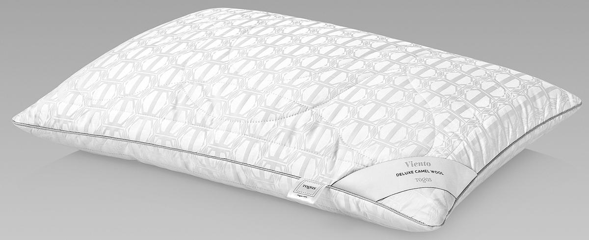 Подушка Togas Виенто, наполнитель: верблюжий пух, цвет: белый, 50 x 70 см подушка estia аоста наполнитель пух 70 х 70 см