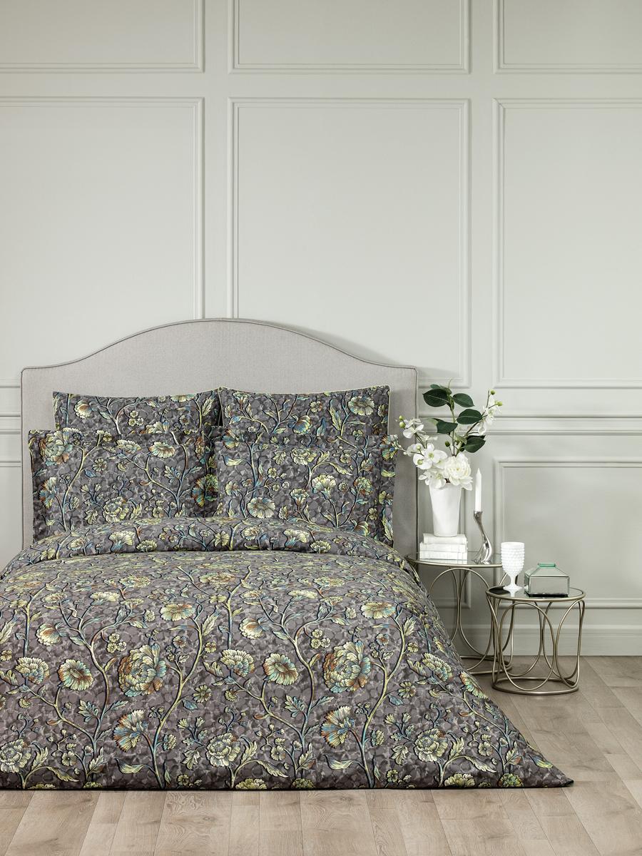"""Комплект белья Togas """"Витторио"""", 1,5-спальный, наволочки 50x70, цвет: серый. 30.07.29.0200"""
