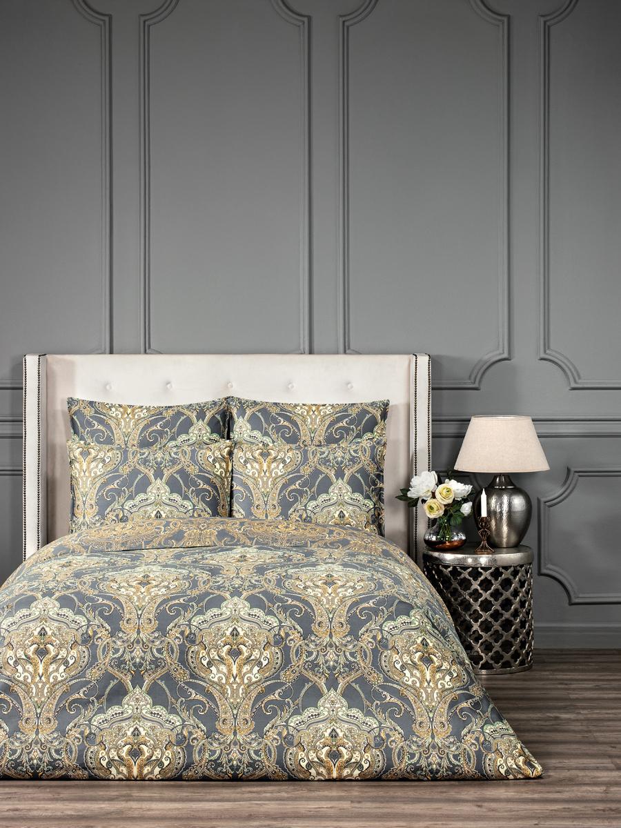"""Комплект белья Togas """"Доминик"""", 1,5-спальный, наволочки 50x70, цвет: серый. 30.07.31.0559"""