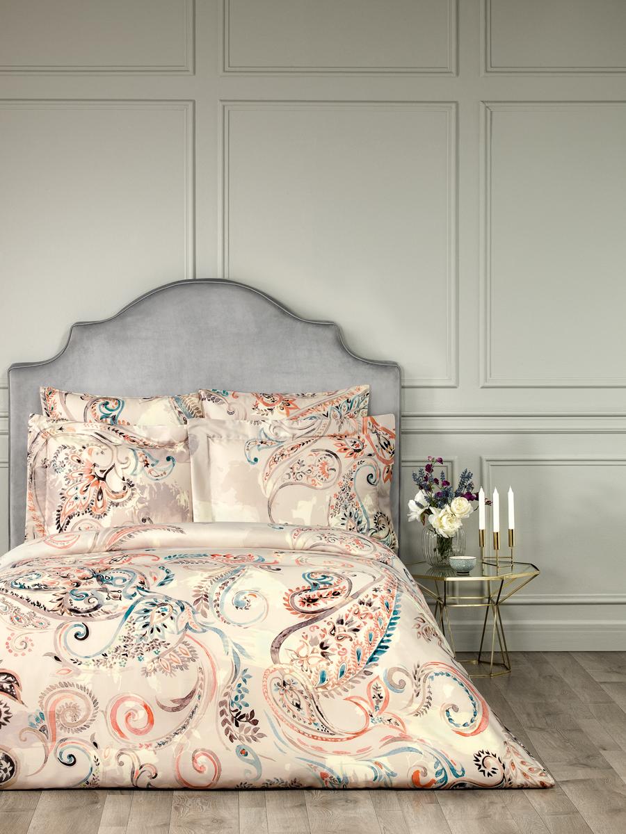 Комплект белья Togas Адажио, 1,5-спальный, наволочки 50x70, цвет: светло-бежевый. 30.07.98.0002 комплект наволочек togas togas mp002xu0dugw