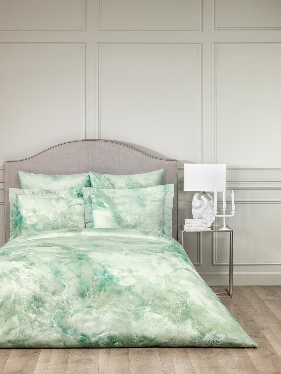 Комплект белья Togas Терра, 2-спальный, наволочки 50 x 70, цвет: зеленый. 30.07.99.0055