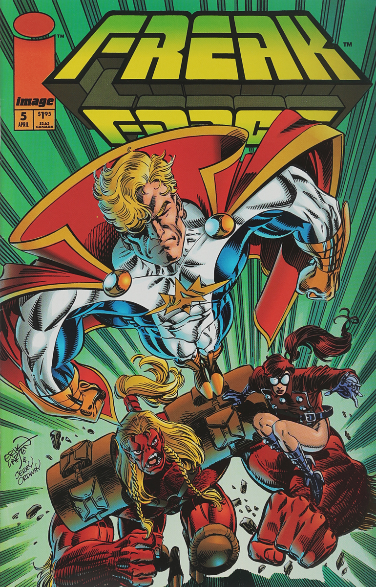Erik Larsen, Keith Giffen Freak Force #5 larsen x force sp r7 0 jr