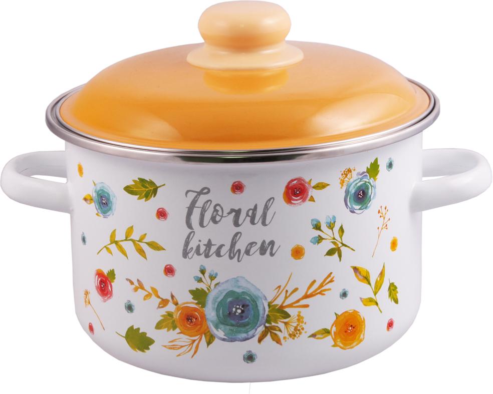 """Кастрюля Appetite """"Floral Kitchen"""", с крышкой, 4 л"""