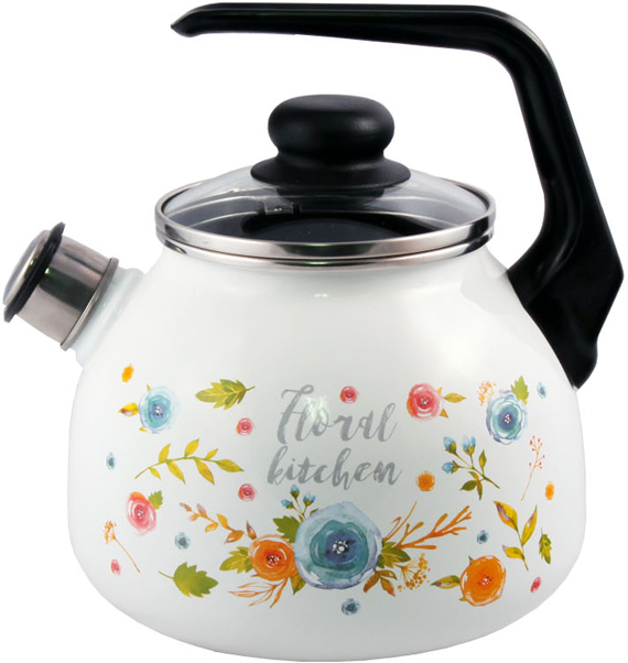 "Чайник Appetite ""Floral Kitchen"", со свистком, 3 л"